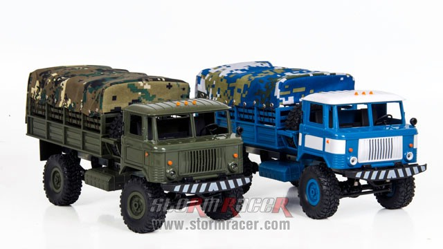 WPL-B Military Truck 1/16 w/Camo-Roof 012
