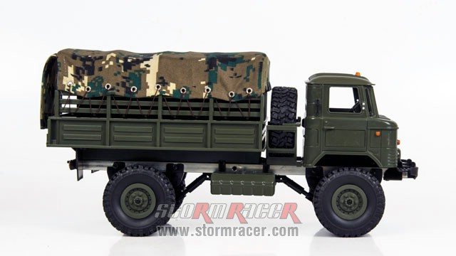 WPL-B Military Truck 1/16 w/Camo-Roof 015