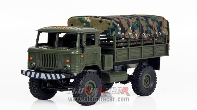 WPL-B Military Truck 1/16 w/Camo-Roof 019