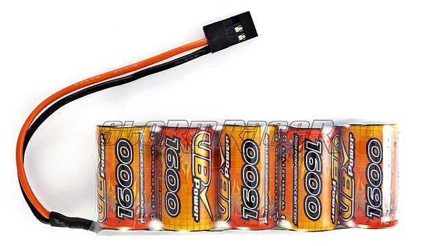 Pin Sạc RX 6.0V Ni-MH 1600mAh Long Pack(VB Power) 012