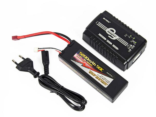 Combo Lipo 5200mAh 50C 2S  & Charger E3 001