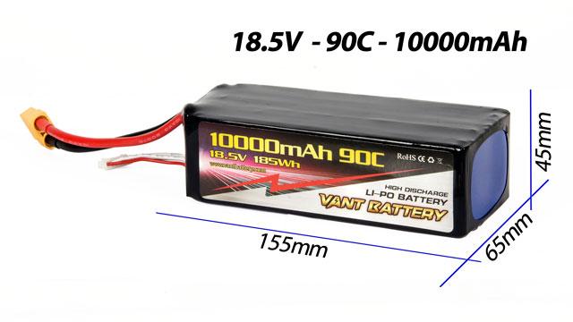 Vant Battery Lipo 10000mAh 90C 5S (18.5V) 002