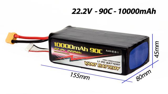 Vant Battery lipo 10000mAh 90C 6S (22.2V) 003
