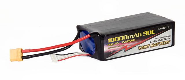 Vant Battery lipo 10000mAh 90C 6S (22.2V) 004