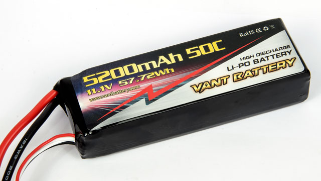 Vant Battery Lipo 5200mAh 50C 3S (11.1V) 006