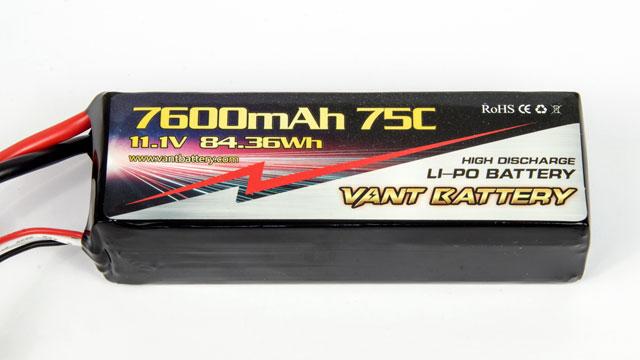 Vant Battery Lipo 7600mAh 75C 3S (11.1V) 004