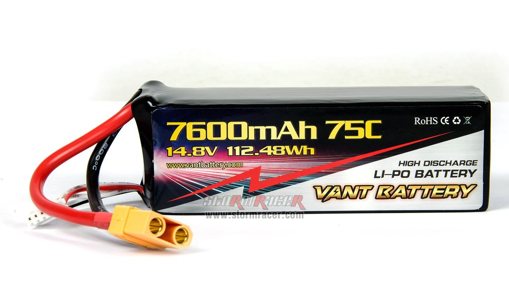 Vant Battery Lipo 7600mAh 75C 4S (14.8V) 003