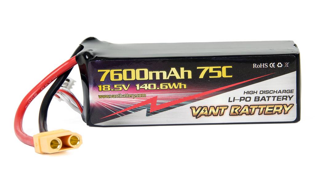 Vant Battery Lipo 7600mAh 75C 5S (18.5V) 001