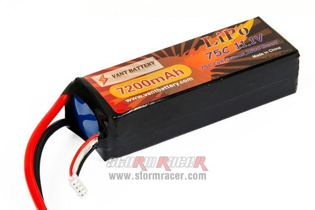 Vant Battery Lipo 7200mAh 75C 3S (11,1V) 003