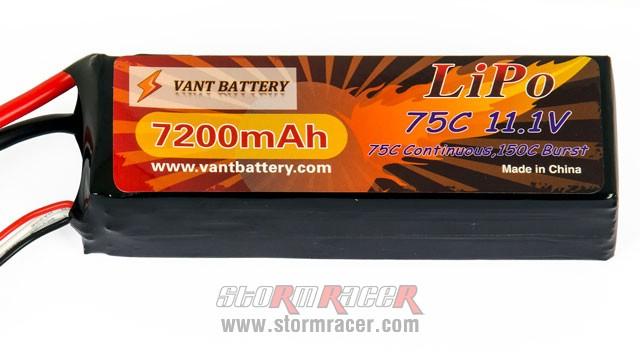 Vant Battery Lipo 7200mAh 75C 3S (11,1V) 004