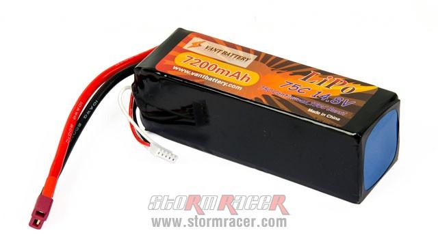 Vant Battery Lipo 7200mAh 75C 4S (14,8V) 001