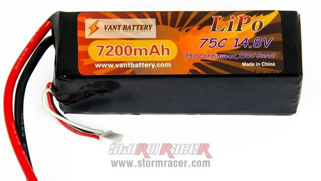 Vant Battery Lipo 7200mAh 75C 4S (14,8V) 004