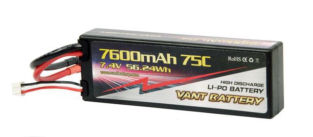 Vant Battery Lipo 7600mAh 75C 2S (7.4V) 001