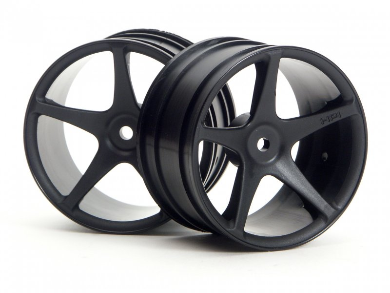 HPI Super Size Star Wheel 2.2in Black (2P) #3031 600