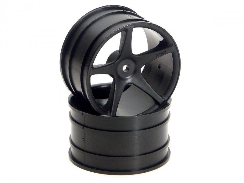 HPI Super Size Star Wheel 2.2in Black (2P) #3031 600