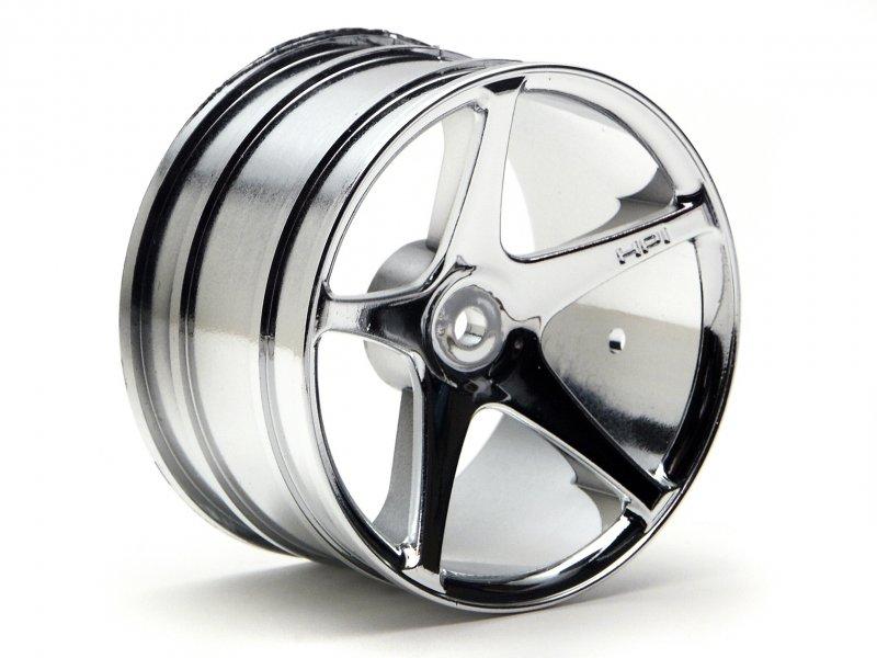 HPI Super Size Star Wheel 2.2inch Chrome (2P) #3032 600