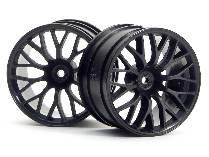 HPI Super Size Mesh Wheel 2.2inch Black (2P) # 3036 600
