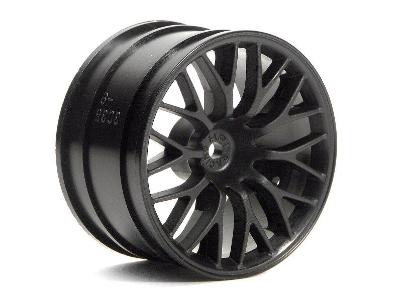 HPI Super Size Mesh Wheel 2.2inch Black (2P) # 3036 600