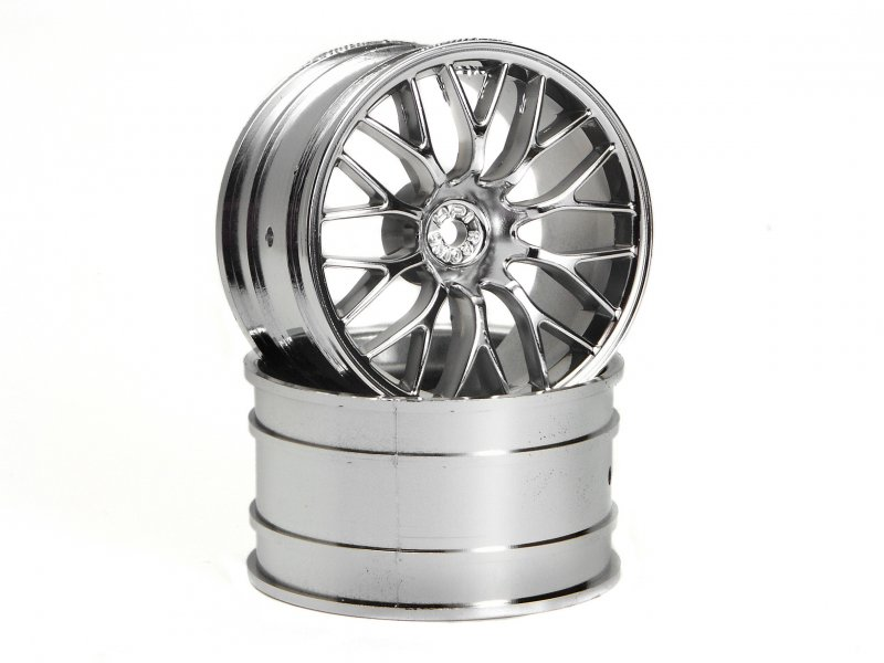 HPI Super Size MESH Wheel 2.2in Chrome (2P) #3037 600