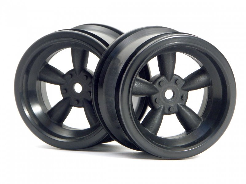 HPI Vintage 5 Spoke Wheel Black (2P) #3821 600