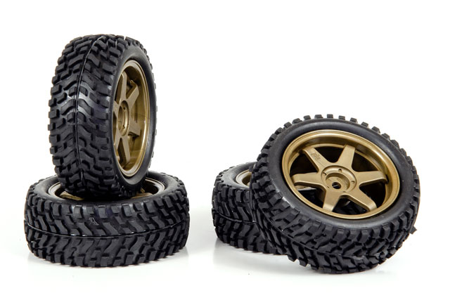 HPI 1/10 Rally Tires Set #3843-4 (30mm) 002