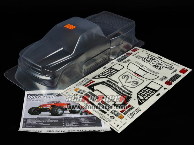 HPI 1/8 Truck Body Dodge Ram 2002 #7178 003