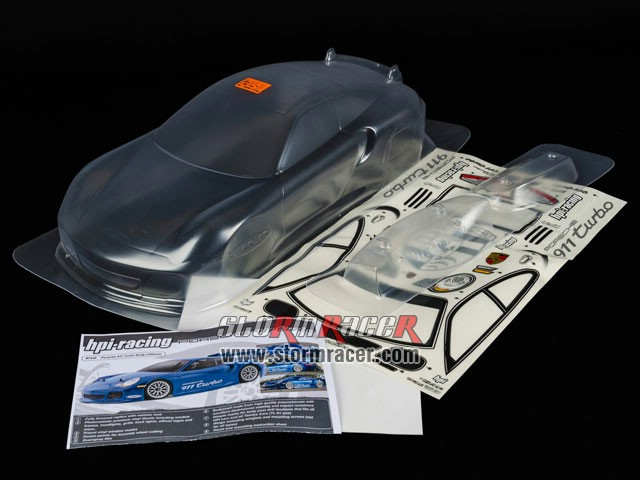 HPI 1/10 Body Porsche 911 Turbo (200mm) #7435 004