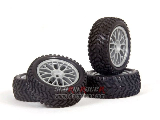 HPI 1/10 Rally Tires Set #3711-4 002