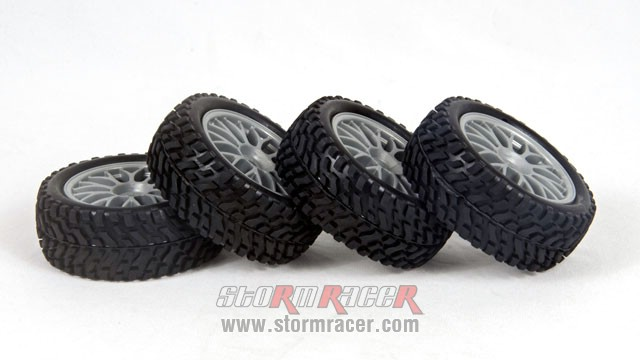 HPI 1/10 Rally Tires Set #3711-4 003