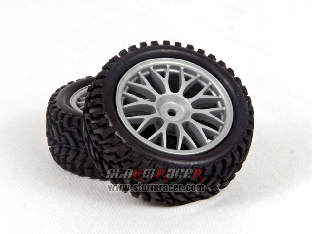 HPI 1/10 Rally Tires Set #3711-4 004