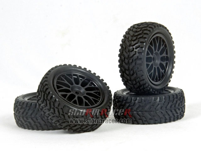 HPI 1/10 Rally Tires Set #3711-4 008