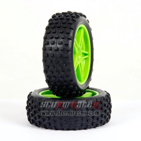 HSP 1/10 Buggy Front Tires Set #06025V 004