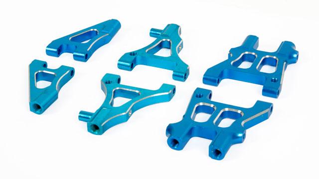 HSP Blue Alu Suspension Arm (Set) 002