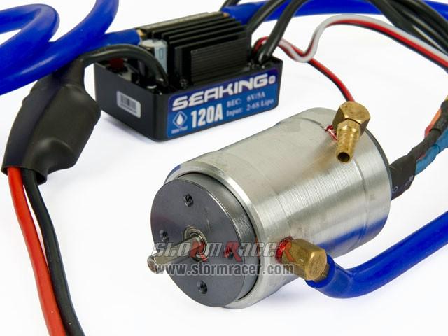 Combo ESC-120A Motor BLS 3660-3000KV WaterCool 002