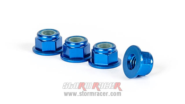 Alpha Flange Nut M4 Blue MP05-220301 (4P) 004