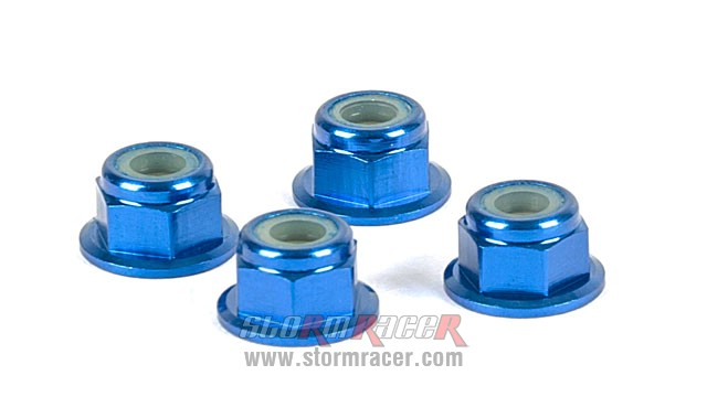 Alpha Flange Nut M4 Blue MP05-220301 (4P) 007