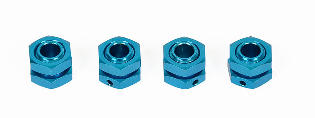 Hongnor 1/8 Lock Nut Blue #X1-26-4 (4P) 001