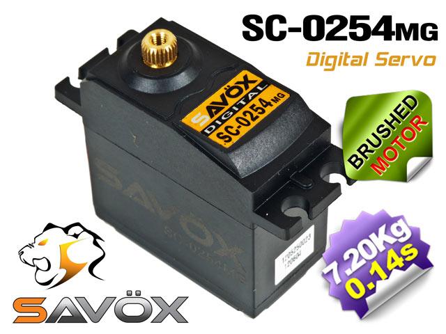 Savox Digital Servo SC-0254MG 6,0V