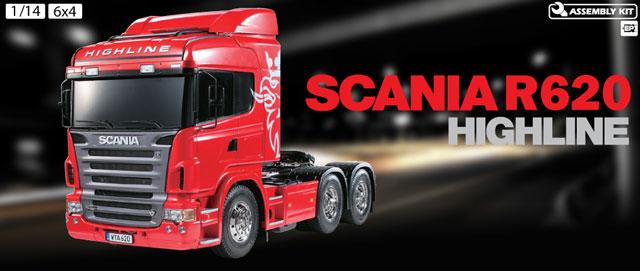 Tamiya 1/14 RC SCANIA R620 Tractor 4x2 #56323 002