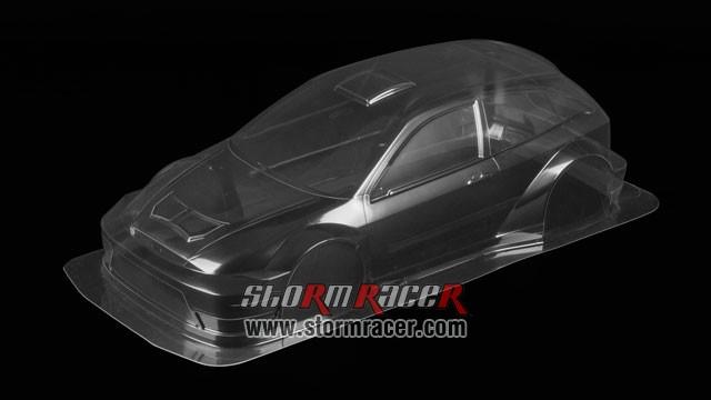 Tamiya 1/10 Body Ford Focus RSW-03 #51037 005