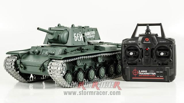 Tank Sô Viết KV-1 2,4G xích kim loại 003