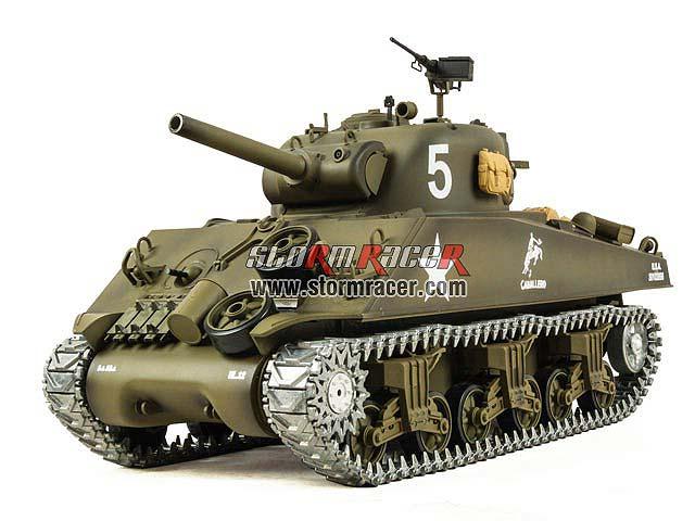 M4A3 SherMan 2.4G xích kim loại (1/16RTR)