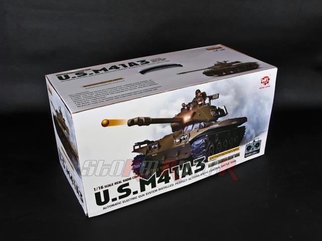 Tank US M41-A3 xích nhựa (1/16 RTR)