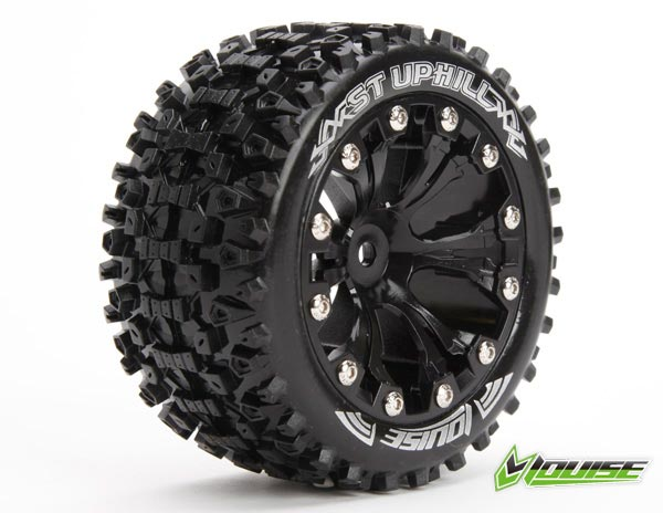 Louise 1/10 ST-UPHILL Monster Truck Tires (Black)