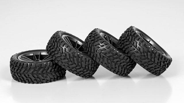 HPI 1/10 Rally Tires Set #3845-4 (30mm) 003