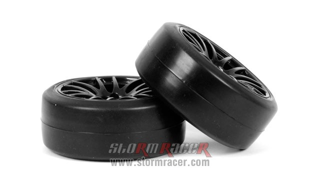 CPV 1/10 Onroad Tires 26mm Slick Black #3826 004