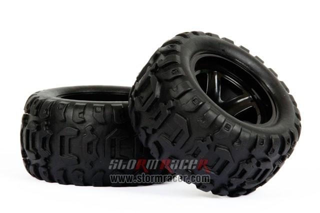 HBX Monster 1/16 Tires Set 16032F 004
