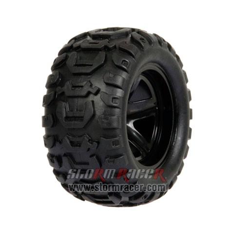 HBX Monster 1/16 Tires Set 16032F 005
