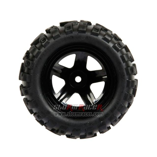HBX Monster 1/16 Tires Set 16032F 006