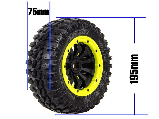 FID 1/5 Monster Tires Set 195*75mm (4P) 005